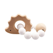 Baby Silicone Hedgehog Shaped Toy Silicone Baby Teether Bracelet Food Grade Silicone Beads Handmade Jewellery Bracelet