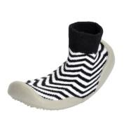Honhui Fashion Baby Girl Boy Soft knitting Stripe Socks Shoes Floor Indoor School Sneakers (23
