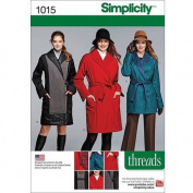 Simplicity Miss/Petite Coat/Jacket Threads Magazine, 6-8-10-12-14