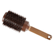 Nano Ceramic and Ionic Round Hair Brush with Natural Boar Bristle for Hair Styling, Adding Hair Volume and Shine