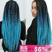 UR Meili 6pcs/lot 60cm Three Tone Colour Crochet Hair Extensions Kanekalon Hair Synthetic Crochet Braids Ombre Jumbo Braiding Hair Extensions