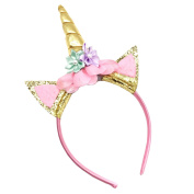 Unicorn Horn Headband for Birthday Party Decoration Cosplaying Photography Prop