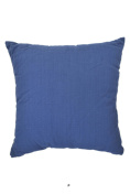 Solid Dark Denim Blue 46cm Square Decorative Accent Pillow Cushion with Fill