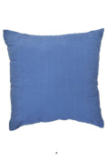 Solid Washed Denim Blue 46cm Square Decorative Accent Pillow Cushion with Fill