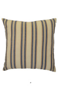 Beige & Peach Blue Stripes 46cm Square Decorative Accent Pillow Cushion with Fill