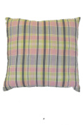 Pink Plaid Pattern 46cm Square Decorative Accent Pillow Cushion with Fill