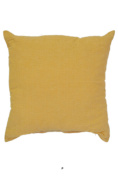 Sherbet Yellow Satin 46cm Square Decorative Accent Pillow Cushion with Fill