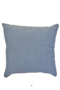 Light Blue Washed Denim 46cm Square Decorative Accent Pillow Cushion with Fill