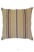 Beige with Purple Striped 46cm Square Decorative Accent Pillow Cushion with Fill
