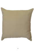 Solid Beige Colour 46cm Square Decorative Accent Pillow Cushion with Fill