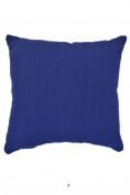 Bright Solid Indigo Blue 46cm Square Decorative Accent Pillow Cushion with Fill