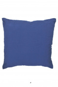 Light Washed Denim Blue 46cm Square Decorative Accent Pillow Cushion with Fill