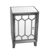Privilege Wood Accent Tables 89028 Privilege 89028 1 Door Accent Stand - Mirror 18.9 X 70cm X 40cm Grey