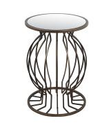 Privilege Metal Accent Tables 41011 Privilege 41011 Accent Table - Iron & Glass 18.5 X 70cm X 47cm Bronze
