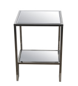 Privilege Metal Accent Tables 89020 Privilege 89020 Accent Table - Steel 29 X 70cm X 8.3cm Silver