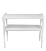 Privilege Wood Accent Tables 28438 Privilege 28438 2-Tier Accent Console - Pure White 37.75 X 80cm X 40cm White