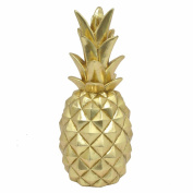 Benzara Resin Pineapple Decoration-Large-Gold Accents