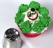 Christmas Tree Icing Piping Tips And Couper Pastry Bag Special Russian Leaf Nozzle Cupcake Cake Decorating.