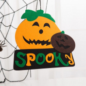 Startview Creative Halloween Pendant Ornaments Felt Halloween Pumpkin Witch Ghost Decor