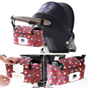 Labato Baby Stroller Organiser Mummy Bag, Universal Fit Baby Strollers Hanging Storage Bag for Toys, Nappies, Wallets, Phones, Water Bottle, Premium Baby Pram for Smart Mom