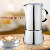 BourneTech Super High Quality Stainless Steel Moca Express, Moca Pot, Special Design By Coffee Lovers