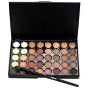 Beauty Top Cosmetic Matte Eyeshadow Cream Makeup Palette Shimmer Set 40 Colour+ Brush Set A