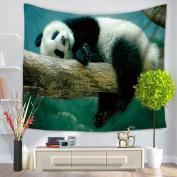 Coohole Animal Cute Panda Tapestry Hippie Wall Hanging Yoga Mat Bohemian Bedspread Throw Dorm Decor