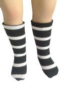 White & Black Mid-Long Tight Stocking for 46cm American Girl Doll