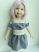 Handmade Striped Dress Fits American Girl Dolls & 46cm Dolls #003