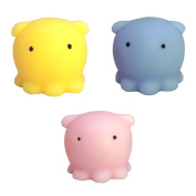 3PCS Kawaii Squishy Toys Octopus, Mini Animal Seals Healing Toys Squishy Stress Reliever Toy for Kids Adults