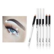 vmree 12 pcs Eyeliner Eye Shadow Pen Waterproof Eyeliner Pencil Makeup Pen White