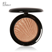 Hunputa Classy Intensity Single Baked Shimmer Metallic Pigmented Eyeshadow Highlighter Pigment Powder Palette,Contour and Highlighting Makeup Kit - Contouring Foundation / Concealer Palette