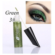 MEIQING Shimmer Glitter Eyeshadow Liquid Bling Eyeliner Highlighter Power Make Up Set