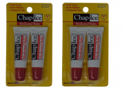 Medicated Lip Balm 4 tubes - SPF 4 - Cold Sores, Fever Blisters, Chapped Lips