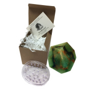 Jade SoapRock by TS Pink, 180ml Decorative Glycerin Soap, bundle with Spectrum Oval Soap Saver, Soap that looks like a Rock, (2 Items) Boxed with Insert Card