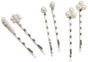 Bobby Pins 6/Pkg-Pearl & Silver
