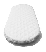 SUZY Microfibre Hypoallergenic Moses Basket Mattress 67 x 30 x 4cm Thick OVAL SHAPED