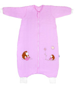 Slumbersac Bamboo Baby Winter Sleeping Bag with Feet approx. 3.5 Tog - Pink Hedgehog - 18-24 months