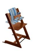 Stokke Tripp Trapp Bundle Walnut w Ocean Stripes cushion and tray