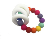 Baby Chew Beads Silicone Teething Bracelet Ring Mom Baby Jewellery