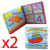 Pack Of 2 Baby Bath Books - Educational Fun Toys