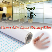 New 60cm 1.8M Frosted Window Tint Glass Privacy PVC Film For DIY Home/Office/Store