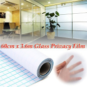 New 60cm 3.6M Frosted Window Tint Glass Privacy PVC Film For Home Office