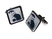 Banksy Rat, Umbrella and Suitcase Cufflinks