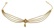 MUCHMORE Bollywood Fashion Style Gold Tone Indian Matha Patti Partywear Head Traditional Jewellery