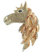 Sindary 7cm Austrian Crystal Unique Horse Animal Brooch Pin Pendant UKB6535