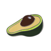MJARTORIA Novelty Cartoon Avocado Brooch Pin for Women and Girls