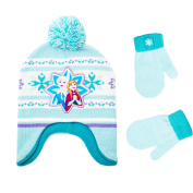 Frozen Infant Toddler Girl Hat and Mitten Set