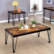 Furniture of America Raviello Industrial 2-piece Metal Accent Table Set