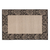 BRUMLOW MILLS INC DAMASK WEAVE ACCENT RUG CHOCOLATE
